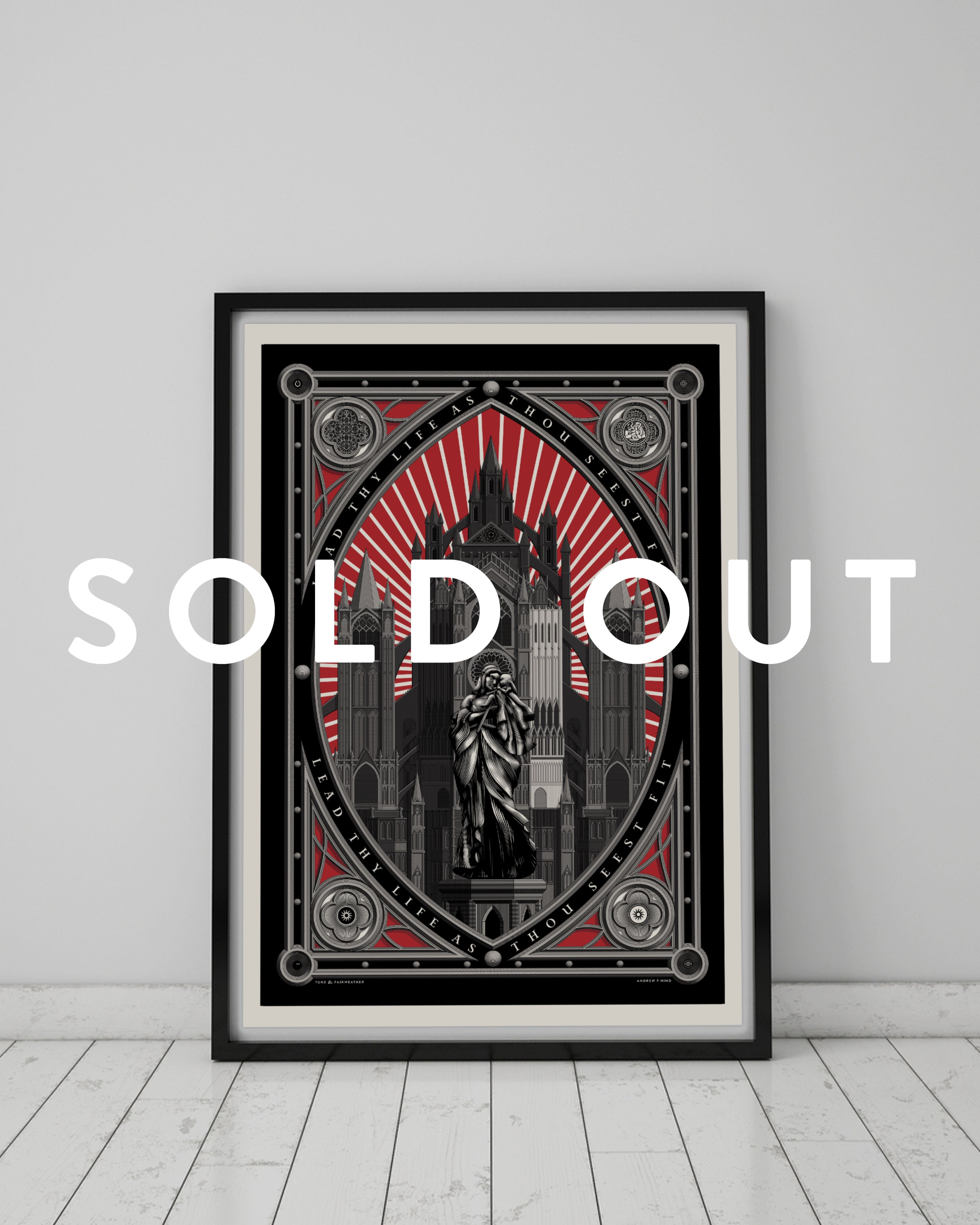 "Mother & Child print (""You Died Kickstarter"" limited edition)"
