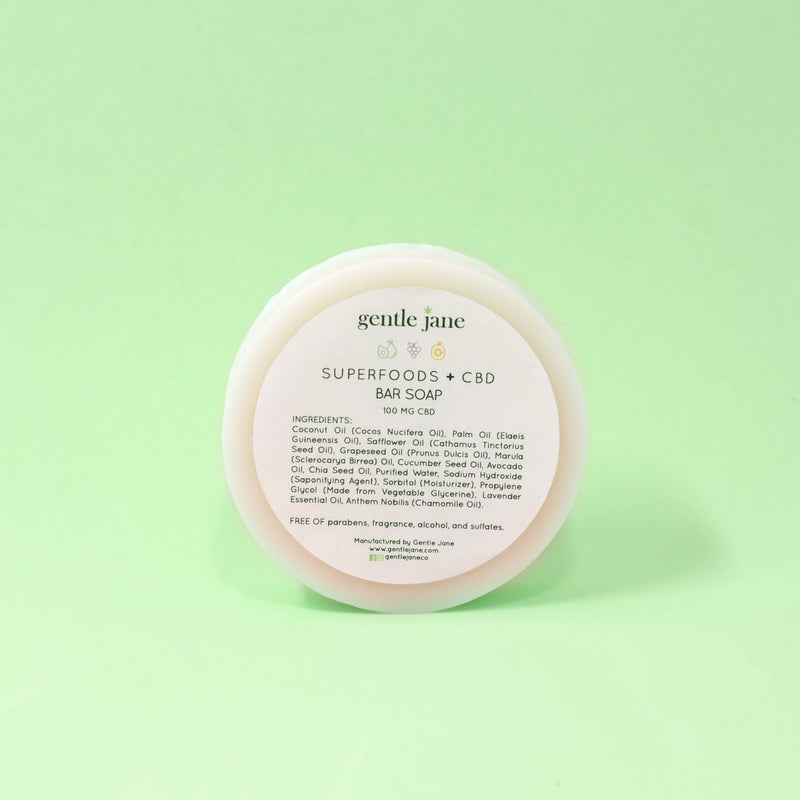 Gentle Jane Superfoods + CBD Bar Soap 100 mg CBD