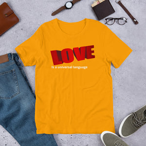 Love Language Short-Sleeve Unisex T-Shirt +Colors - Efizy Tees