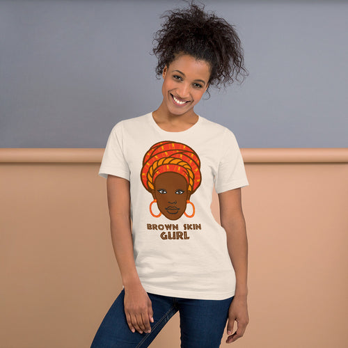 Brown Skin Gurl Short-Sleeve Unisex T-Shirt - Efizy Tees