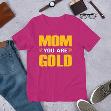 Load image into Gallery viewer, Mom Is Gold Short Sleeve Jersey T-Shirt + Colors - Efizy Tees