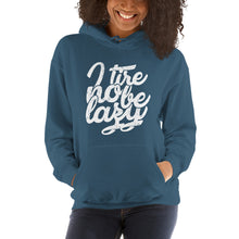 Load image into Gallery viewer, I Tire no Be Lazy Unisex Hooded Sweatshirt +Colors - Efizy Tees