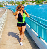 Green Apple Hard Candy | Sports Vest & Fitted Shorts