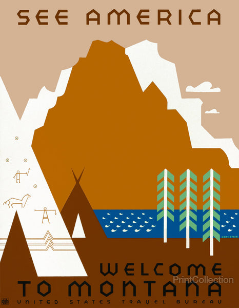 See America Welcome to Montana by Rothstein
