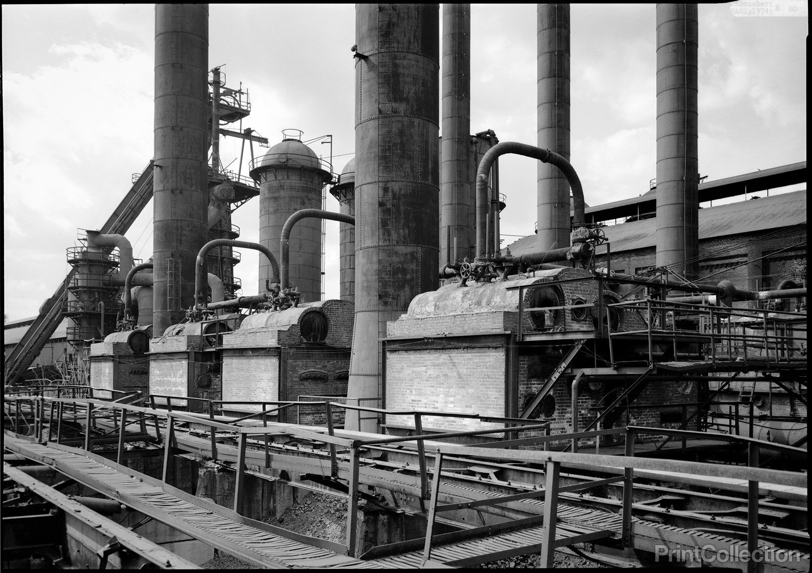 Print Collection - Steel Plant, General View of Boiler Units ...