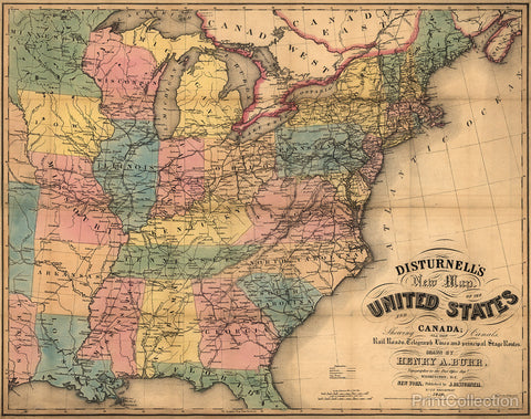 Disturnell's New Map of the United States and Canada