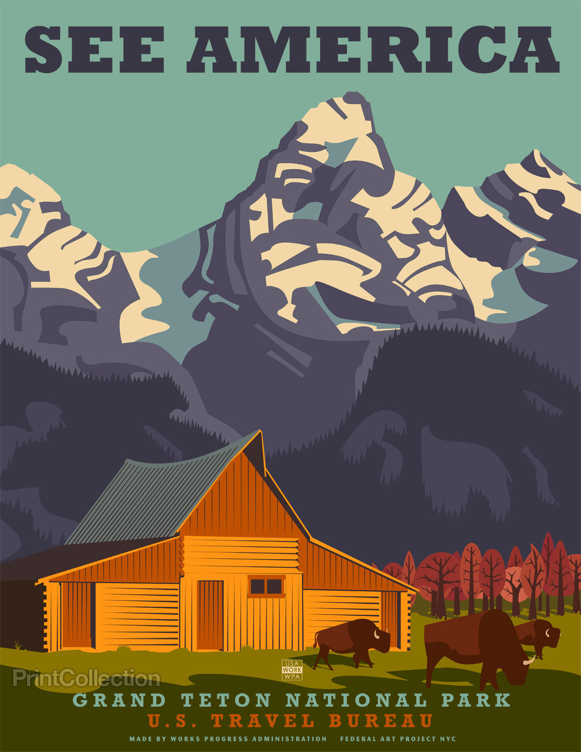 Print Collection See America Grand Teton National Park
