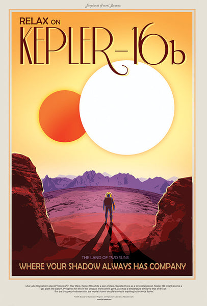 Relax on Kepler-16b - Where your shadow always has company