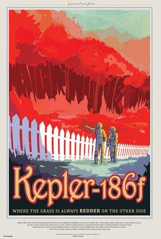 Kepler-186 f - Where the Grass is Always Redder
