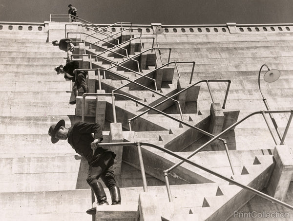 A Fire Escape on a Dam