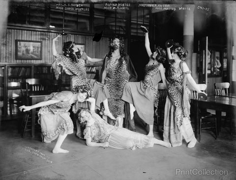 Actors in Costume for Bacchus Dance