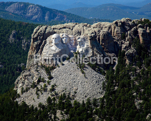 Aerial View, Mount Rushmore