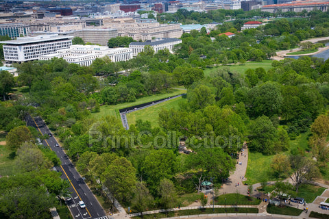 Aerial View of the Vietnam War Memorial, Washington, D.C.