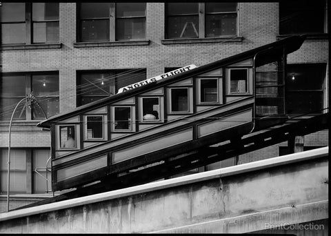 """Angels Flight"" at Third & Hill Streets, Los Angeles"