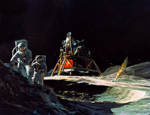 Apollo 13 Astronauts Explore Moon