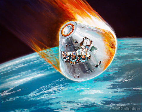 Apollo Command Module Illustration