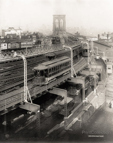 Approach to Brooklyn Bridge, Brooklyn, N.Y.