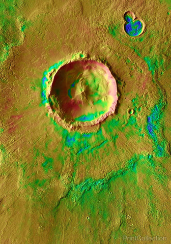 Bacolor Crater: Icy Impact in Utopia