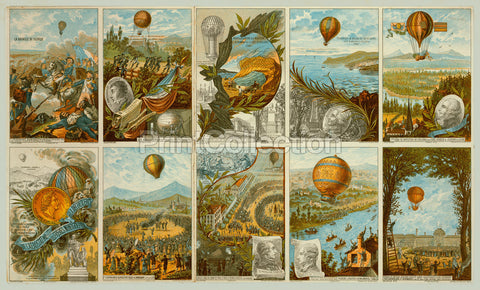 Ballooning history from 1783 to 1883