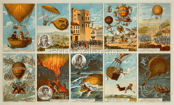 Ballooning history from 1795 to 1846