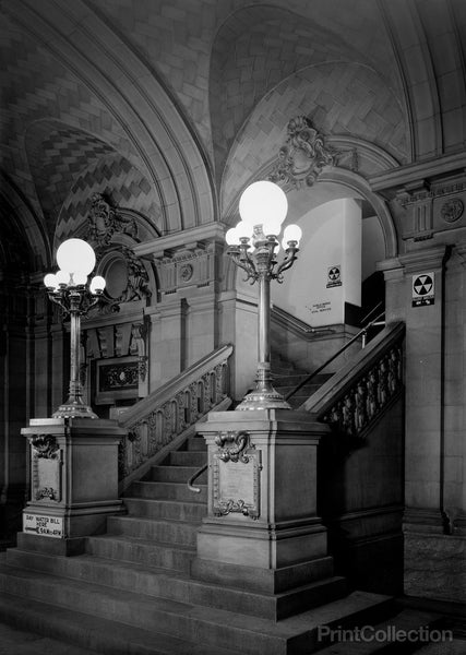 Binghamton City Hall, Collier Street, Binghamton, Broome, NY, Main Staircase