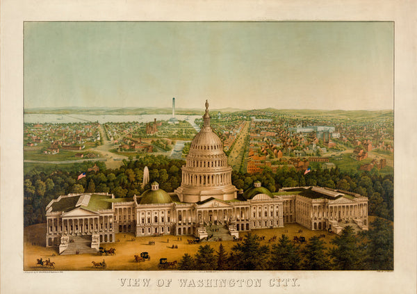 Bird's Eye View of Washington City, 1869