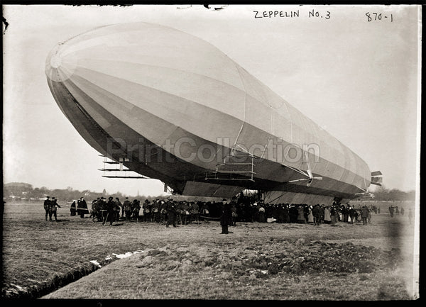 Blimp, Zeppelin No. 3, on Ground