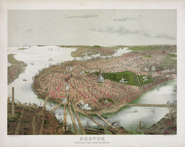 Boston From the Air, 1877