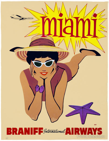 Braniff International Airways to Miami