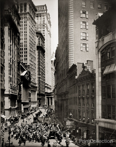 Broad Street and curb brokers, New York City