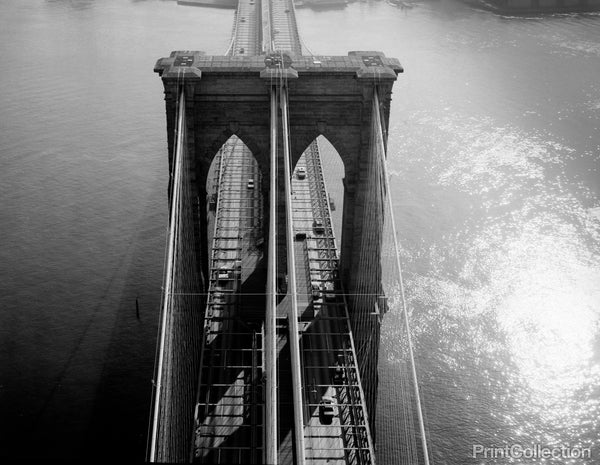 Brooklyn Bridge Tower Aerial