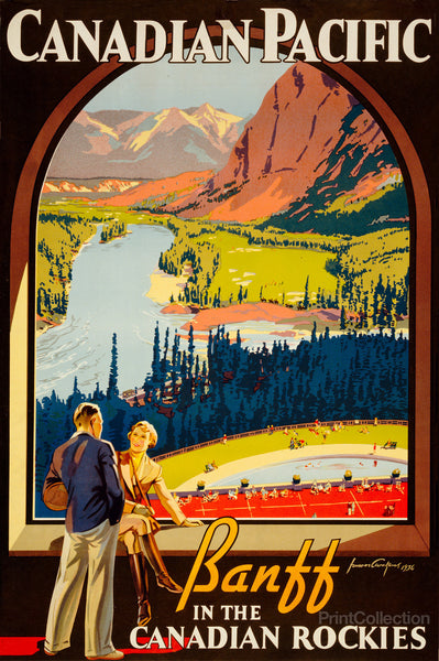 Canadian Pacific. Banff in the Canadian Rockies