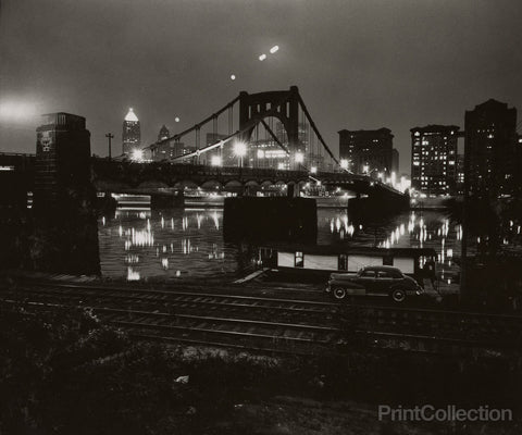 Car Bridge River Night, Pittsburgh, PA, W. Eugene Smith