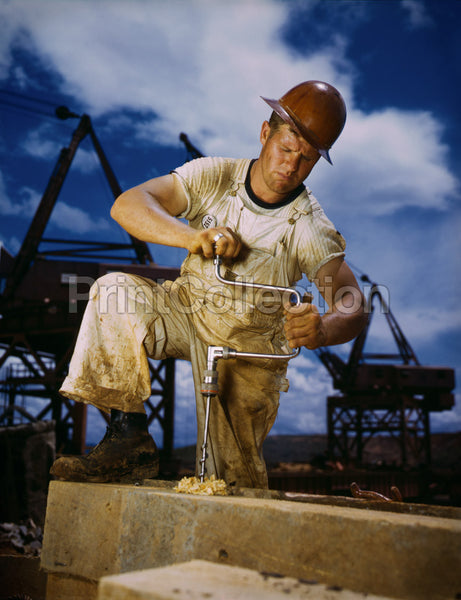 Carpenter at Work on Douglas Dam, Tennessee