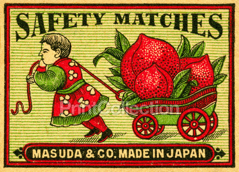 Child Pulling Beets on Cart, Matches