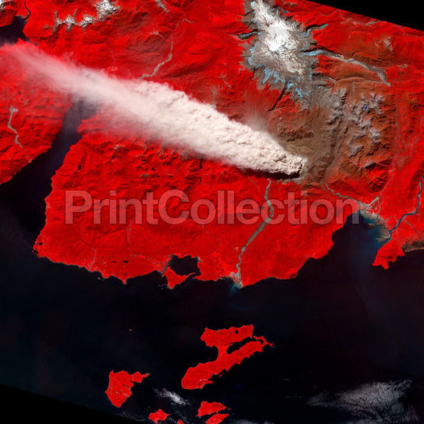 Chile's Chait̩n Volcano from Space