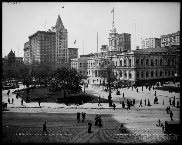 City Hall and Park, New York