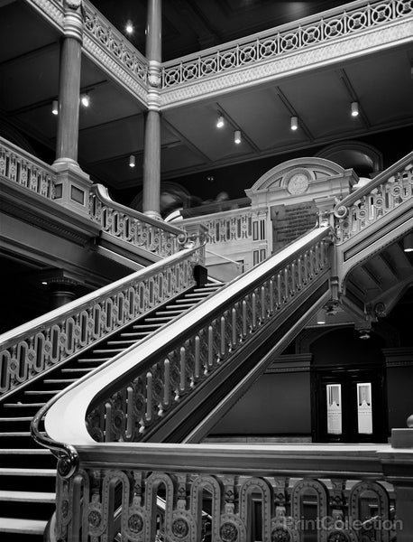 City Hall, Exchange Place, Kennedy Plaza, Providence, Providence, RI, Main Staircase