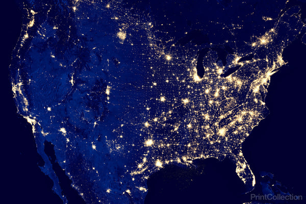City Lights of the United States 2012