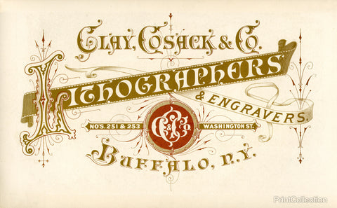 Clay, Cosack & Co Lithographers & Engravers