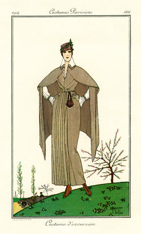 Costumes Parisiens of 1914, woman's fashion