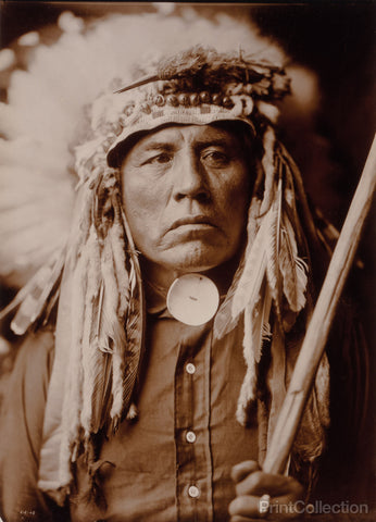 Curley - Apsaroke, Native American, by Edward Curtis