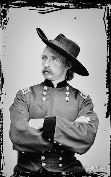 Custer not Standing but Sitting