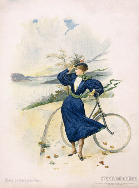 Cycling, Riverside Drive, New York