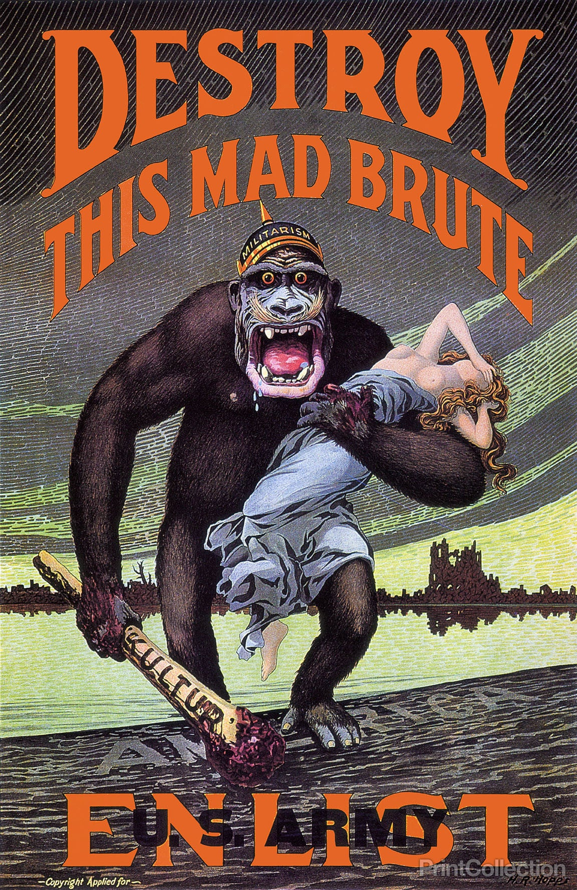 Print collection destroy this mad brute - Intire decrution ...