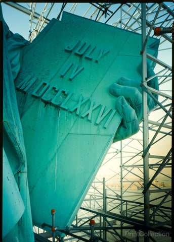 Detail of Tablet, Statue of Liberty, Liberty Island, Manhattan, New York, New York, NY