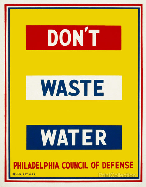 Don't Waste Water, 1940's