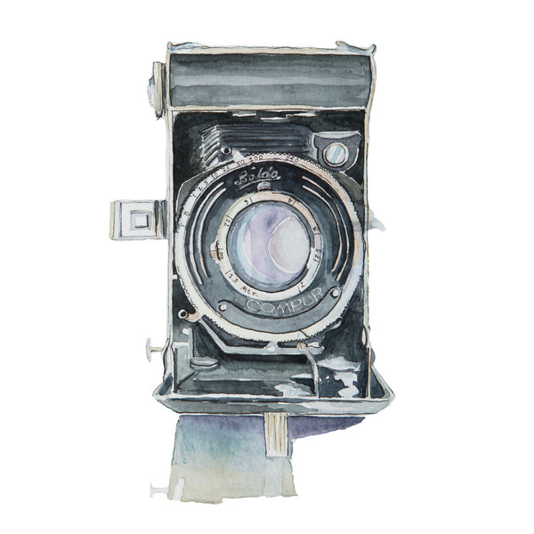 Balda 6x9 120 Camera, Watercolor Painting