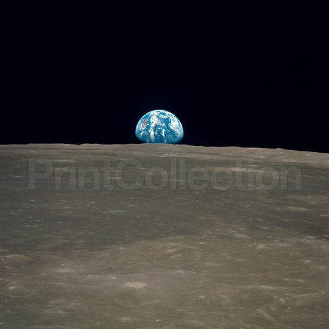 Earth Rise on the Moon, Apollo 11