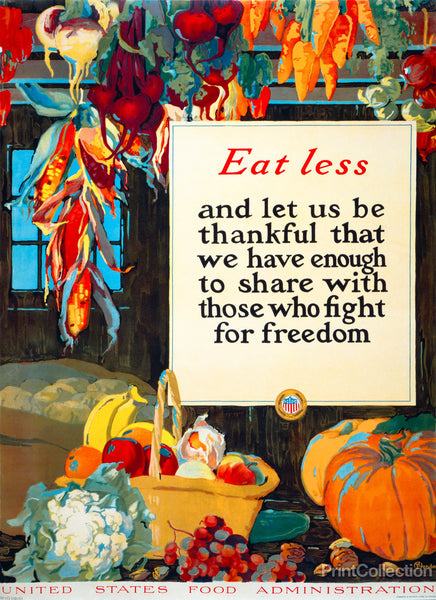 Eat Less, and Let us be Thankful
